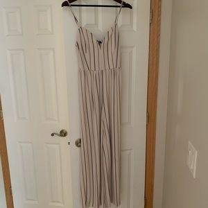 Express striped jumpsuit